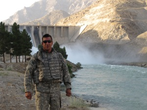 In front of Serobi dam in Tagab Valley in July 2009