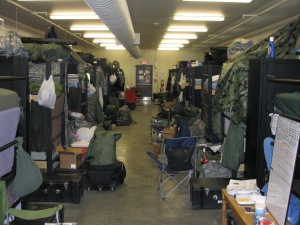 How we lived and slept at Fort Riley