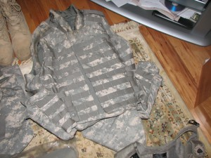 Rex's vest without the ammo during packing in Tampa