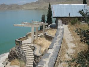 Stairs to the lake at King Zahir Shah's summer home