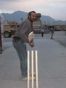 DFAC employees playing cricket