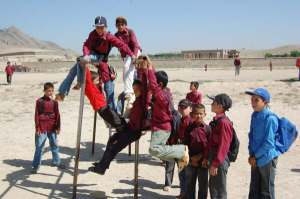 School kids at play