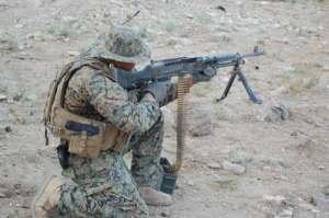 M-240 machine gun