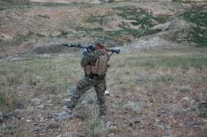 Marine firing RPG