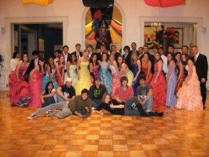 Rhapsody crew during ballroom scene