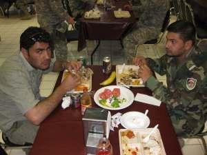 SGM eats at US Dining Facility
