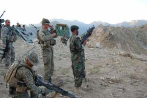 Target practice for ANA and US soldiers