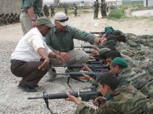 Training on M-16 rifles