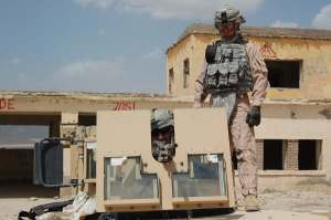 That's me behind the M-240 machine gun