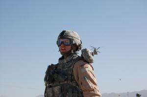 AF Captain waiting on Chinook helicopter