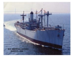 American Victory at sea