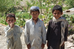 Afghan children in Uzbin Valley, June 2009
