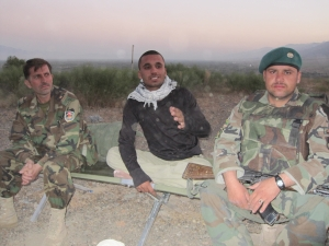 ANA soldiers and interpreter Saleem