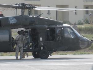 Gen. McChrystal aboard Blackhawk