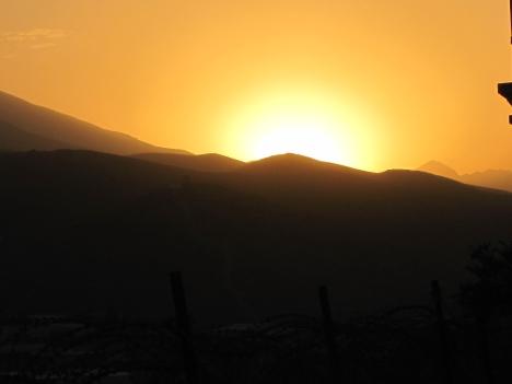 Sun setting in Darulaman