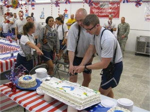 Traditional cutting of the Air Force anniversary cake