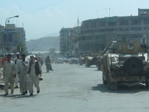 A little bit of traffic congestion in Kabul