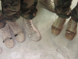 Boots being used by the ANA soldiers.