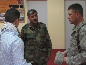 ETT Team leader meets with ANA colonel.