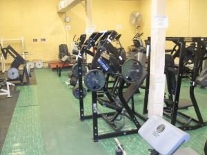 Gym at FOB Airborne.