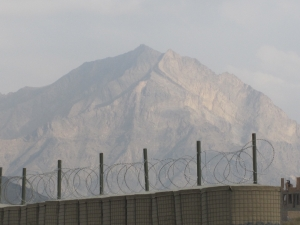 Mountain overlooking our FOB.